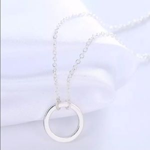 Silver Eternal Circle Necklace